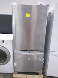 LG stainless steel top and bottom fridge