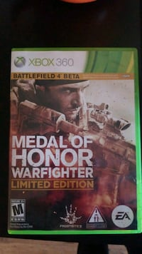 Xbox 360 Medal of Honor Warfighter game case Prescott Valley, 86315