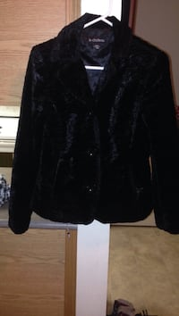 Black faux fur dress jacket Edmonton, T5X 3R3