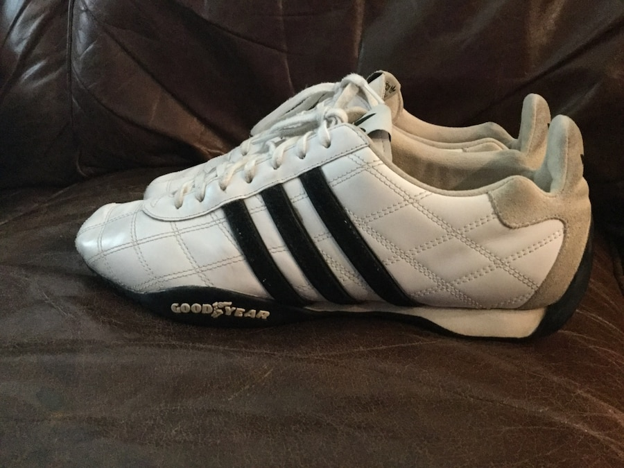 Adidas Tuscany race car driving shoes RARE Goodyear Tire bottoms