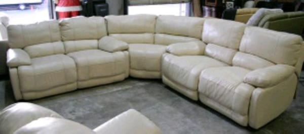Nina 3pc Italian leather reclining sectional sofa