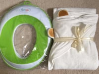 Organic Bamboo Baby Hooded Towel  Potty Training Toilet Seat (pick up only ) Alexandria, 22310