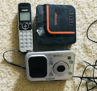 Two black and gray vtech wireless telephones sets.each set $10 .  Irving, 75063