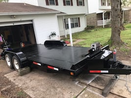 18 ft flat eq or car hauling trailer
