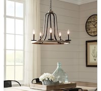 Conal 26 in. 5-Light Weathered Gray Chandelier , NEW!! Peoria, 85345
