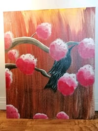"""""""the messenger"""" acrylic painting"""