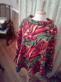green and red poncho
