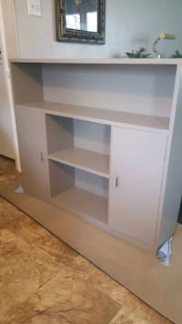 SOLID WOOD GRAY Bookcase