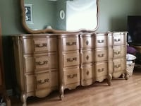 white wooden dresser with mirror Lakewood Township, 08701