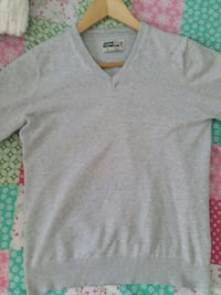 Jersey gris claro pull and bear talla S