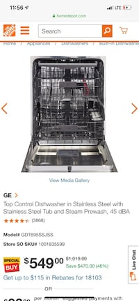 """24"""" inches GE dishwasher stainless steel"""
