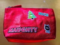 BRAND NEW NAUGHTY Or NICE Cosmetic Bag, Small Clutch Or Pencil Case • $9 FIRM! Winnipeg