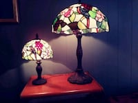 Two vintage tiffany style table lamps Palm Bay, 32905