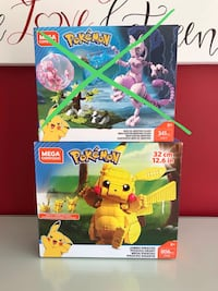Mega construx Pokémon (like Lego) Pikachu and Mewtwo