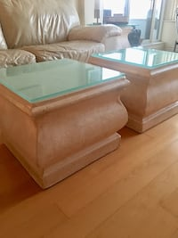 2coffee tables and 2 side tables. Ceramic and glass Richmond Hill, L4B