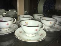 6 Finland tea cups with Arabic pattern Winter Springs