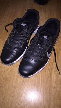 Pair of black leather Nike air zoom rival 5 golf shoes  Chatham, N7L 4L6