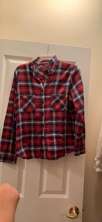 Red and grey flannel button down shirt  Oakton, 22124