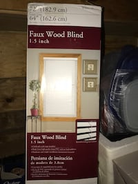 White  Faux wood blind 1.5 inch