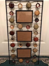 Black and brown metal wall decor with space for pictures  Laurel, 20723