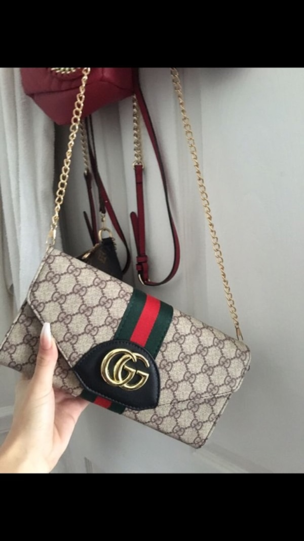 Women S Brown And Red Gucci Sling Bag