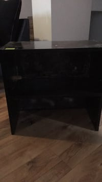 black wooden 2-layer shelf Winnipeg, R2L