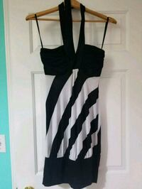 black and white striped sleeveless dress Maple Ridge