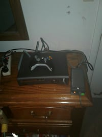 Xbox360 with controller and hard drive and 9 games