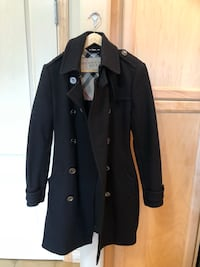 Authentic Burberry black jacket wool peacoat sz 8 Calgary, T3Z