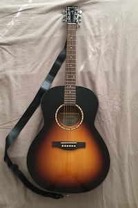 Simon & Patrick Luthier Wooden Guitar/ Brown and Black Handmade.