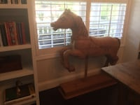 Hand carved pine wood horse 505 mi