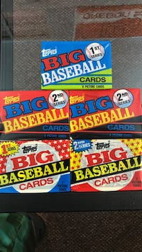 Unopened topps big baseball cards 5 packs