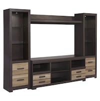 4 piece entertainment center in warm grey Richardson, 75080