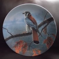 "Bradex Collectors Plate ""The American Kestrel"" THE MAJESTIC BIRDS Series Hanover"
