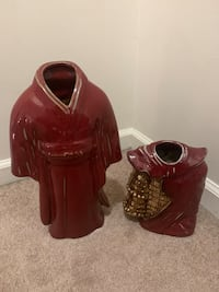 Red Asian dress and armor vases  Odenton, 21113