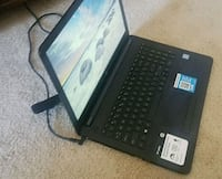 black HP laptop with AC adapter Manalapan Township, 07726
