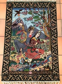 "Persian Wall Tableau Pictorial Rug / Carpet ""Hafez/ Lovers"" Boca Raton"
