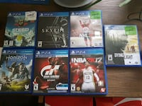 six assorted PS4 game cases Brampton, L6X 0H1