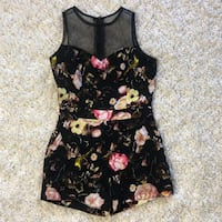 Black Floral Romper with Pockets  Hyattsville, 20783