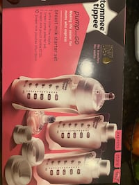 Complete Tommee Tippee pump and go set, bottle warmer, bottles & more