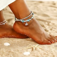 Starfish and beach turtle anklet Riverwood, 2210