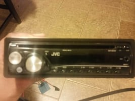 black jvc car stereo head unit tested and works