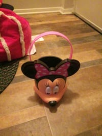 pink and black Minnie Mouse themed stroller Ranson