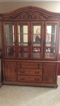Brown wooden framed glass china cabinet Palmdale, 93550