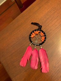 Orange stone Dreamcatcher with pink feathers Vaughan, L4J 8W8