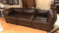 Black leather 3-seat sofa (no rips, scratches, or tears) Vaughan, L4H 3E6