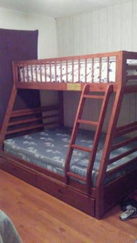 brown wooden bunk bed frame Manassas, 20109