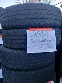 Set of 4235/80/17 suv truck tires e rated tires  Arvada, 80004