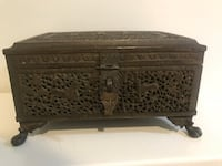 Antique Indian carved brass box Potomac