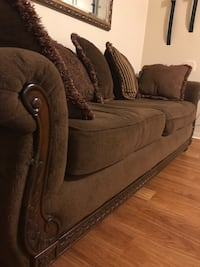 3 Pcs Living room set with pillows  Purchsed last year for $2900 Leaving the country.